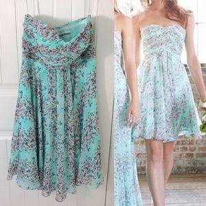 Allure Bridals Mint Floral Short Bridesmaid Dress